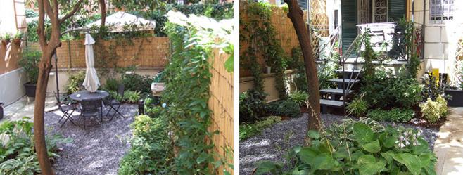 Piccolo giardino Via Nemorense dopo i lavori