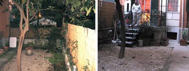 Piccolo giardino Via Nemorense prima dei lavori